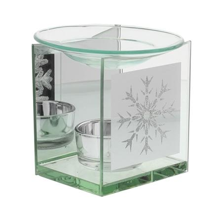 Oil Burner Glass Snowflake Design