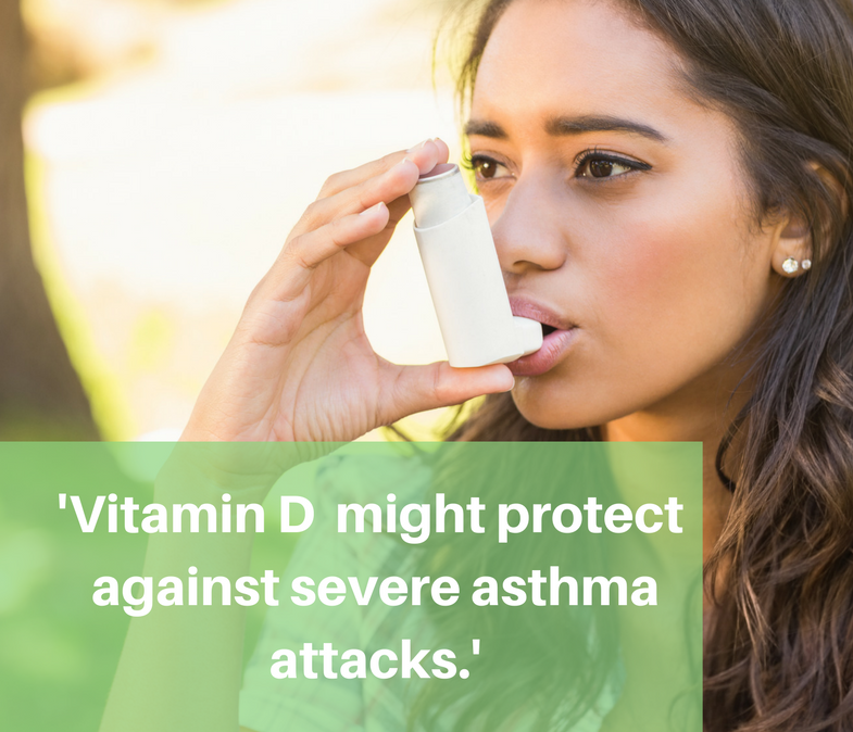 Vitamin D may protect against severe Asthma attacks