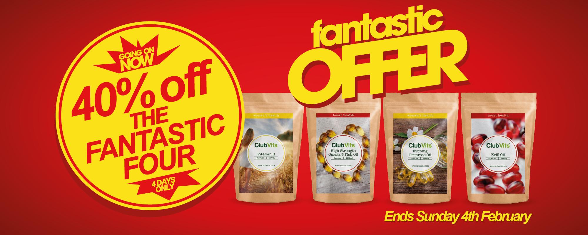 ca1194ef7345 Fantastic Four 40% Off Sale