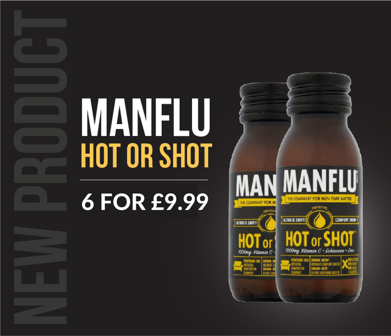 NEW PRODUCT - MANFLU Hot or Shot