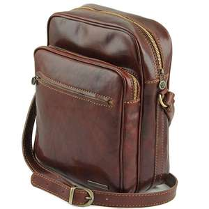 TL140680 Large Leather Oscar Mens Shoulder-Saddle-Clutch-Man Bag