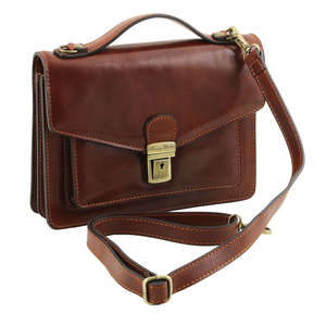 Tuscany Leather TL1443 Eric 2 Compartments Small Messenger - Cross Body - Shoulder Bag