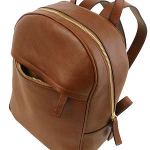 Tuscany Leather TL141604 Polished Calf-Skin Leather-Leisure- Business-Hiking-Rucksack-Backpack