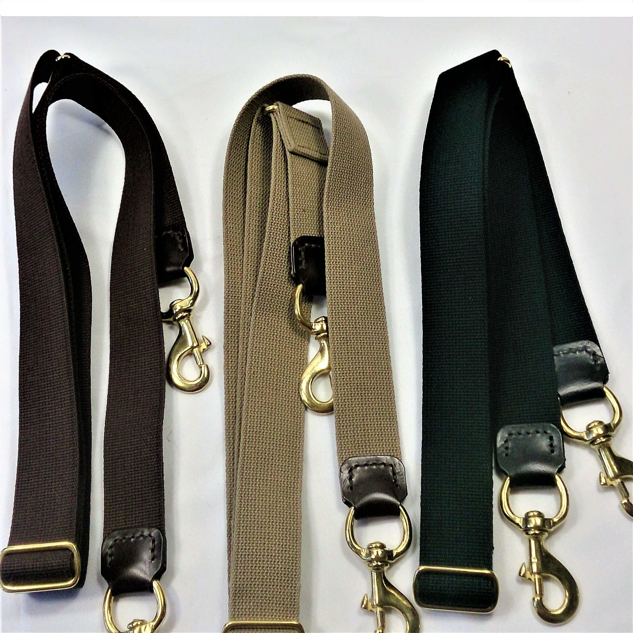 Replacement Shoulder Strap For Messengers-Briefcases-Laptop Bags Webbed Canvass & Brass