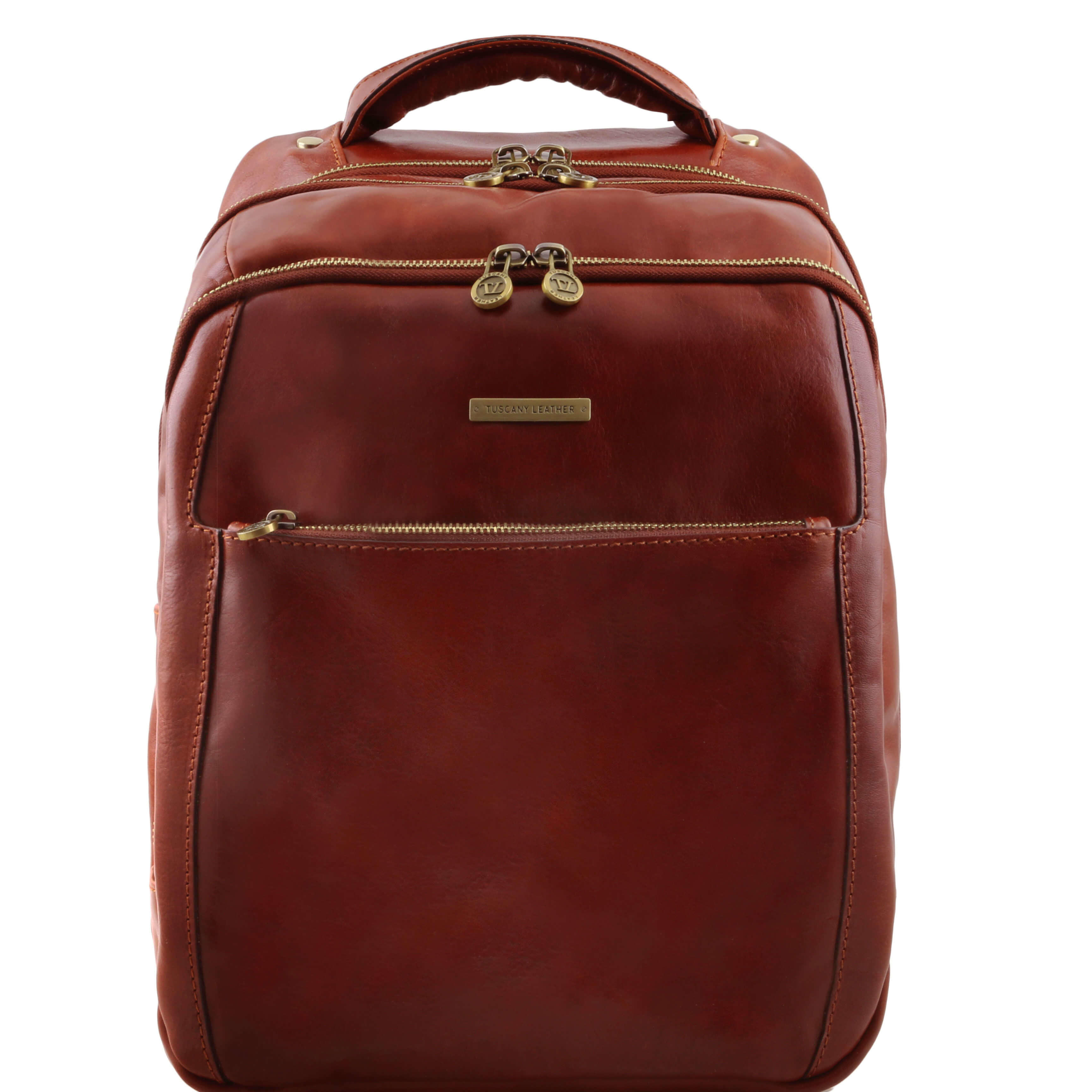 TL141402 Phuket Leather Backpack-Rucksack-Holdall-Bag 3 Compartments in Brown