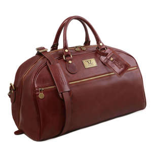 TL141422 XL Leather Voyager Holdall-Travel-Luggage-Duffel Bag-Case & Shoulder Strap Choice Of Colours
