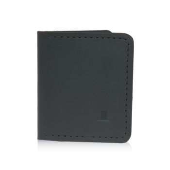 ISAMBARD Clifton Credit Card Wallet, in Black Natural Veg Tanned