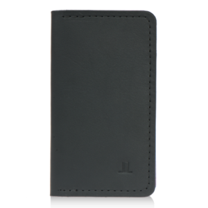 ISAMBARD Clifton Leather Tall Wallet, in Black Natural Veg Tan L