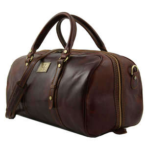 TL140935 Francoforte Leather Travel-Luggage-Duffel-Bag-Case & Sh