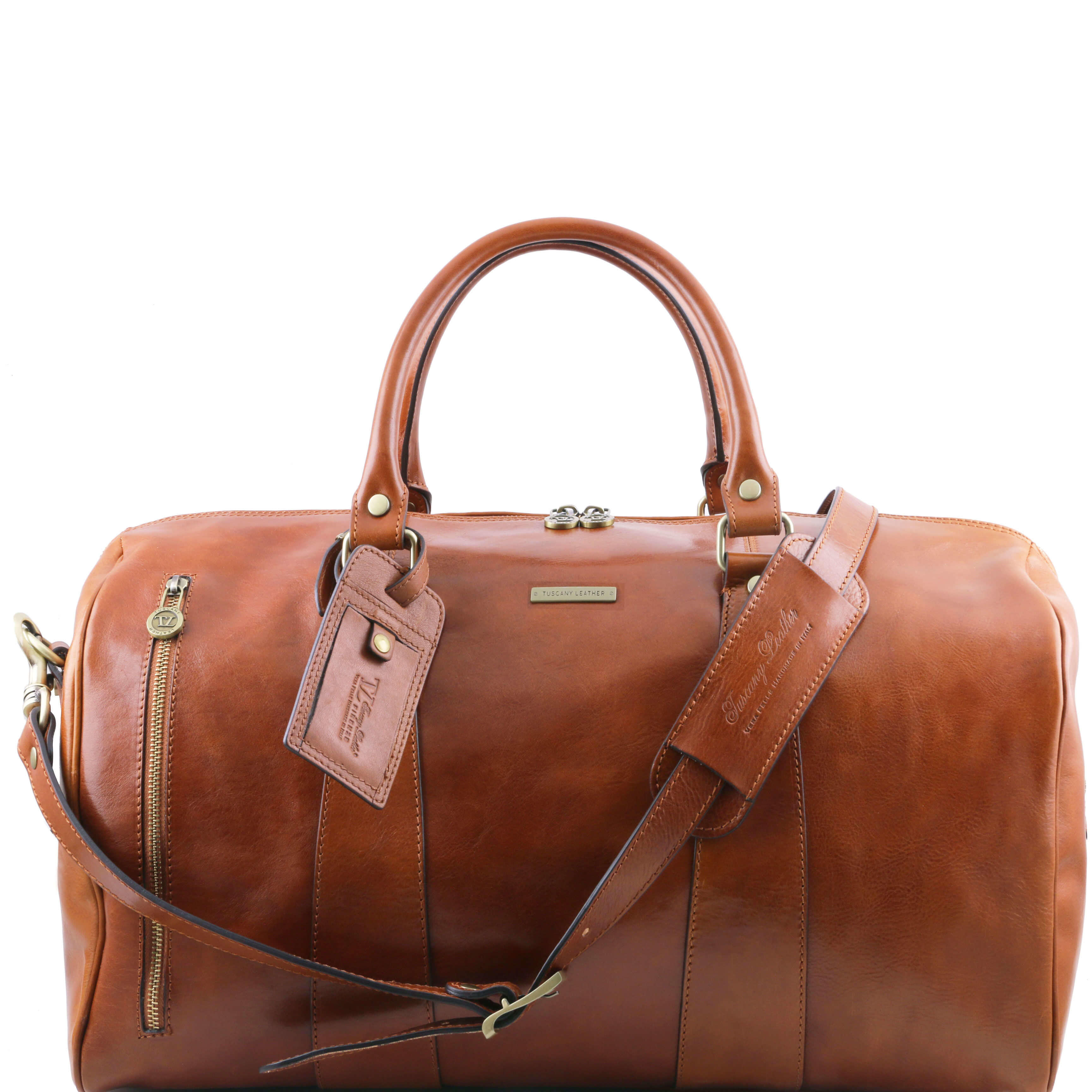 TL141217 Large Leather Voyager Holdall-Travel-Luggage-Duffel Bag