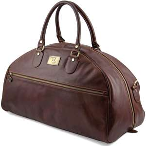 TL141245 Large Leather Voyager Holdall-Travel-Luggage-Duffel Bag