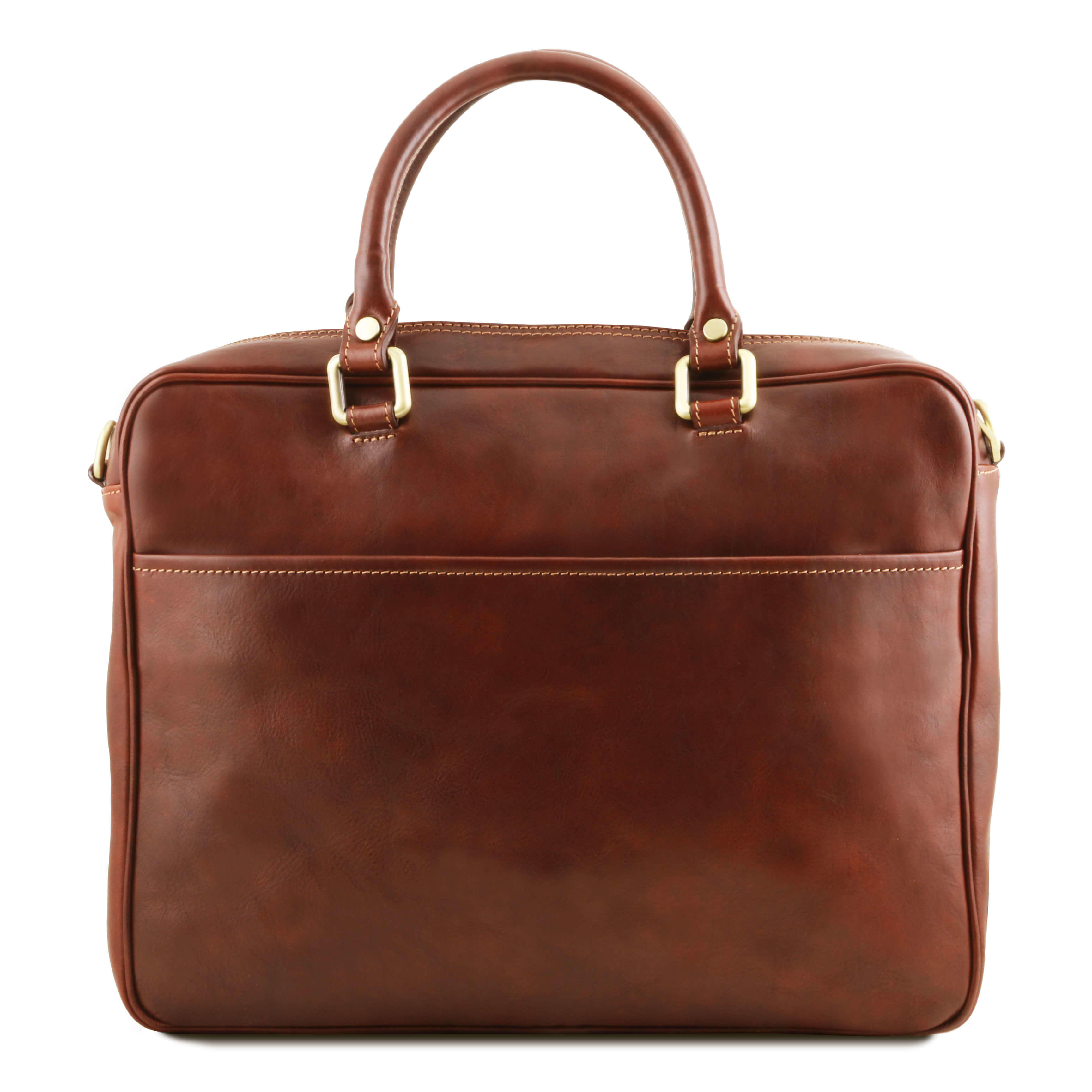PISA Leather Laptop Case With Front Pocket TL141660 By Tuscany Leather