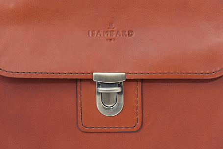 ISAMBARD Large Clifton Messenger - Saddle Bag English Natural Veg Tanned Leather