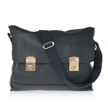 ISAMBARD Clifton Satchel In Soft Natural Leather - Black