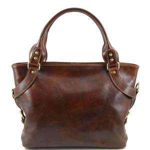 TL140899 Ladies - Womans Ilenia Leather Hand-Shoulder-Tote-Bag & Shoulder Strap