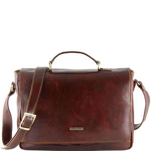 "TL140891 Padova Leather 15"" Laptop Bag-Messenger-Satchel-Briefca"