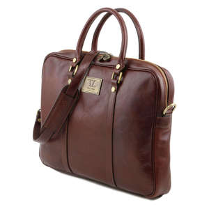 TL141283 Prato Leather Laptop / iPad Bag-Case-Briefcase-Shoulder