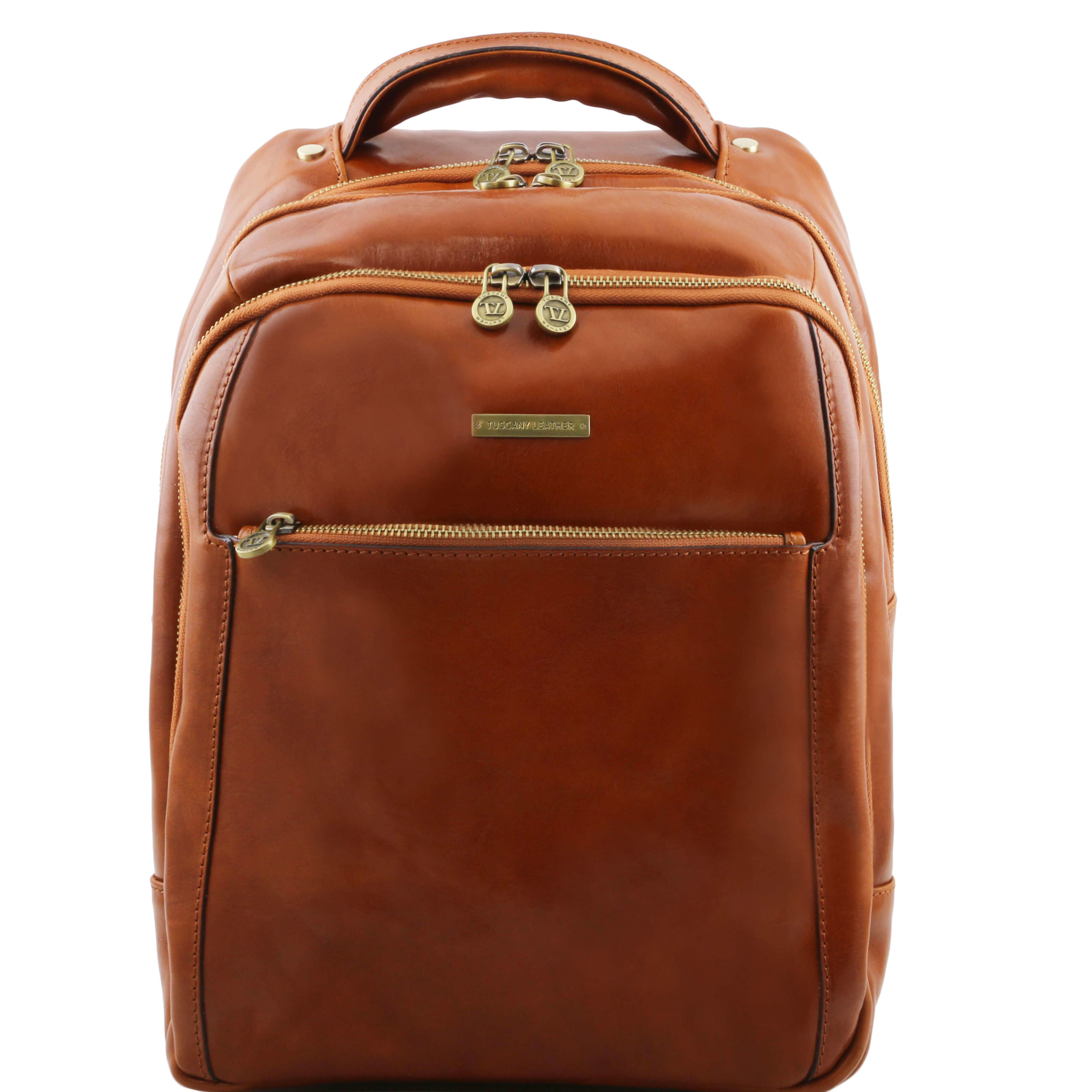 TL141402 Phuket Leather Backpack-Rucksack-Holdall-Bag 3 Compartments in Honey