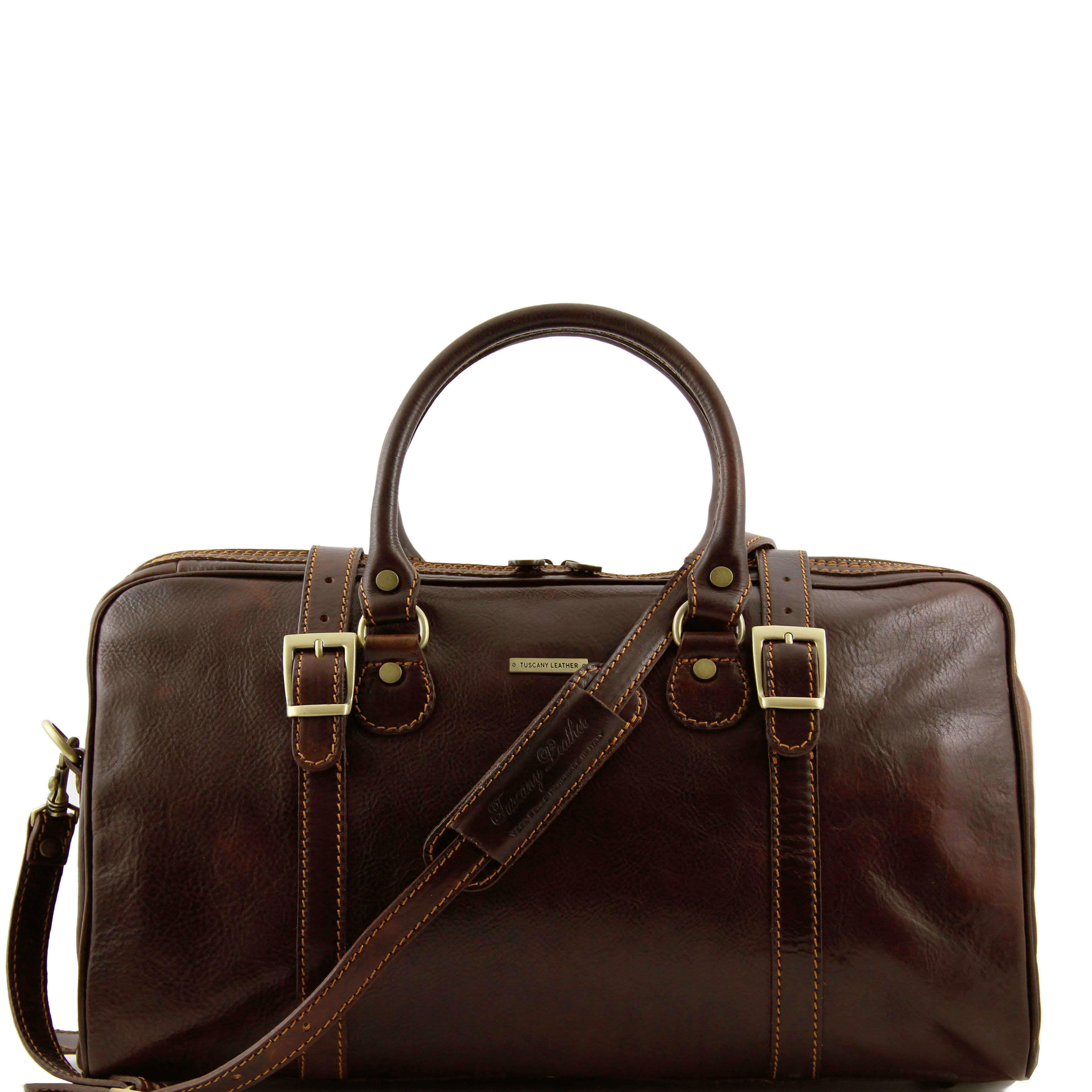 TL1014 Berlin Leather Travel-Luggage-Duffel-Bag-Case & Shoulder