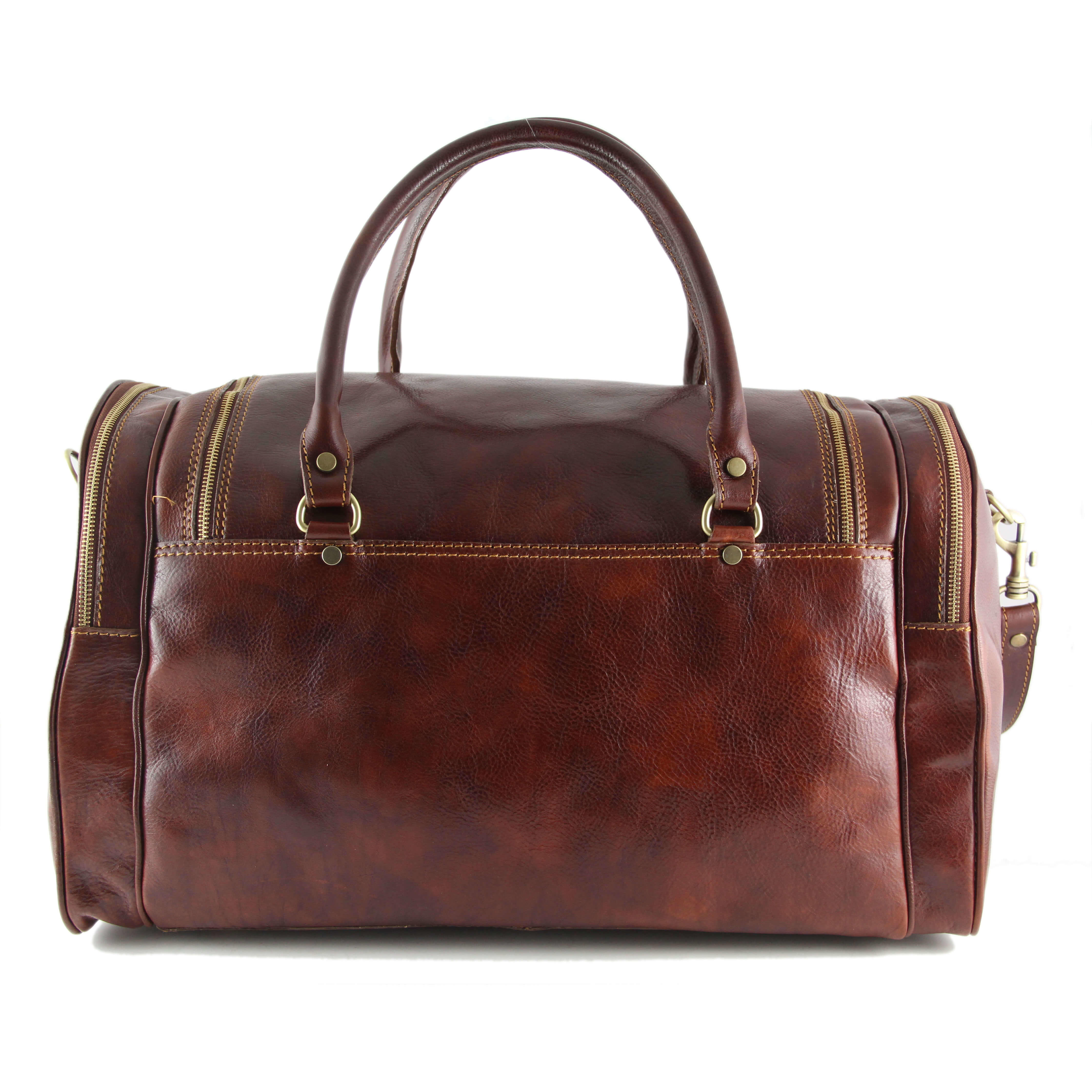 TL1048 Praga Leather Travel - Weekender - Duffel - Bag - Case &