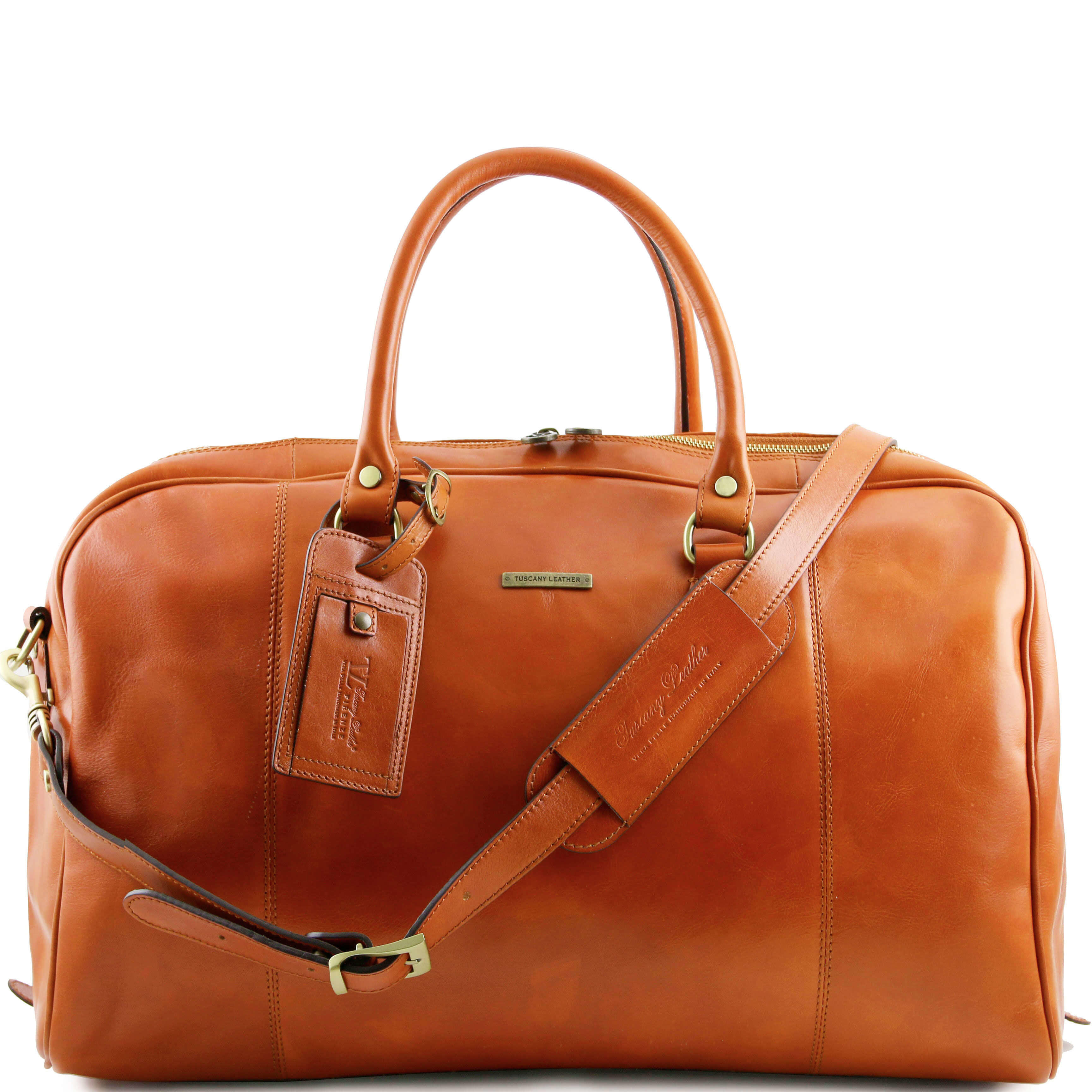 TL141218 Leather Voyager Holdall-Travel-Luggage-Duffel Bag-Case