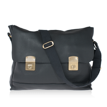 ISAMBARD Clifton Satchel In Soft Black Natural Leather