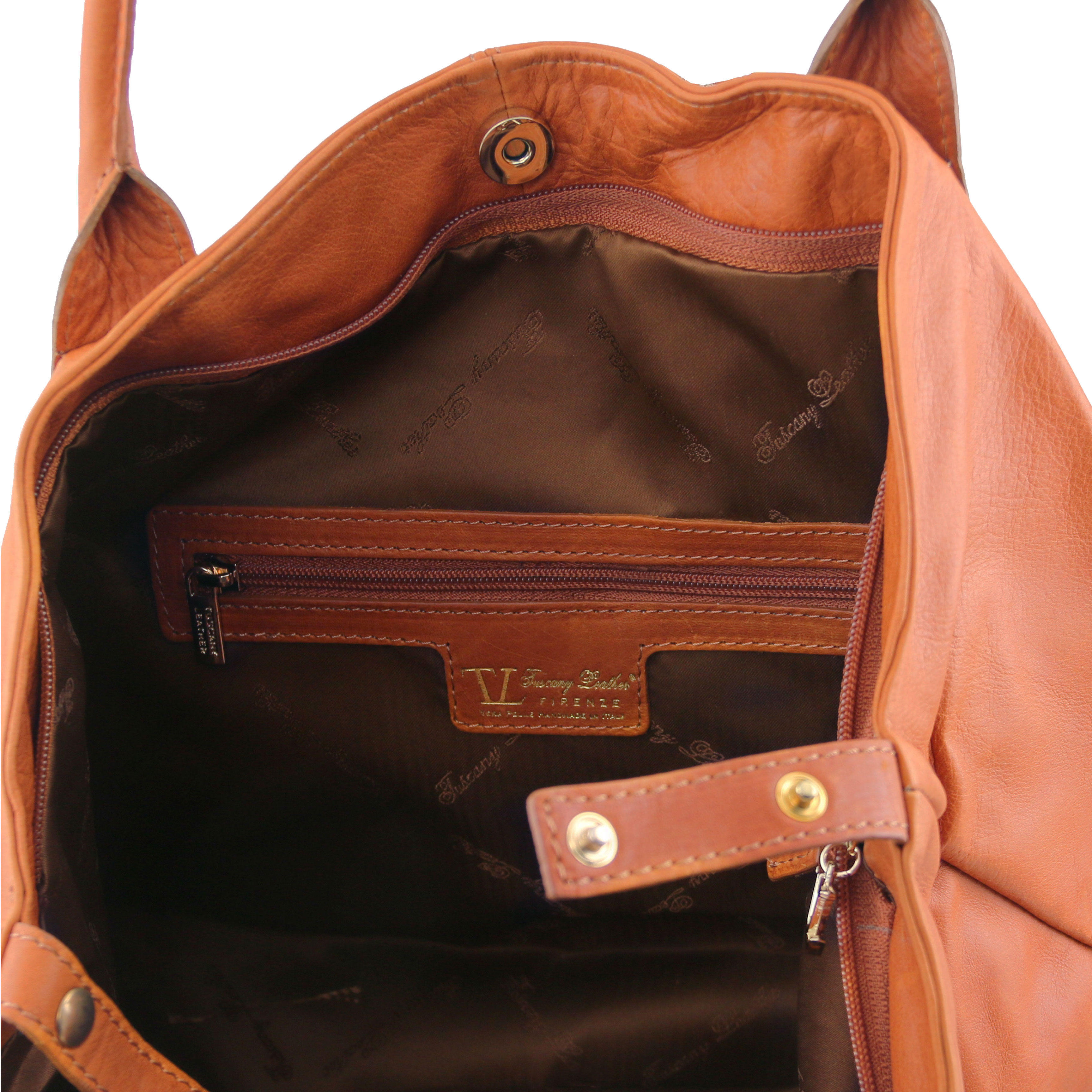 TL141478 Tuscany Leather TL KEYLUCK Leather Shoulder - Shopper Bag
