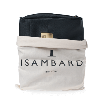 ISAMBARD Clifton Padded Laptop Satchel In Soft Natural Leather