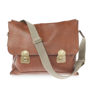 ISAMBARD Clifton Satchel In Soft Natural Leather - Tan