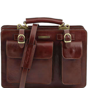 TL141269 MediumTania Ladies Leather 2 Compartment Briefcase-Shou