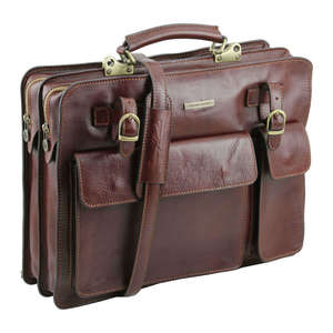 TL141268 Venezia Leather Briefcase-Satchel-Holdall-Shoulder Bag