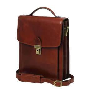 TL141424 New Large David Mens Shoulder-Saddle-Clutch-Man Bag + Shoulder Strap