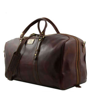 TL140860 Large Francoforte Leather Travel-Luggage-Duffel-Bag-Cas