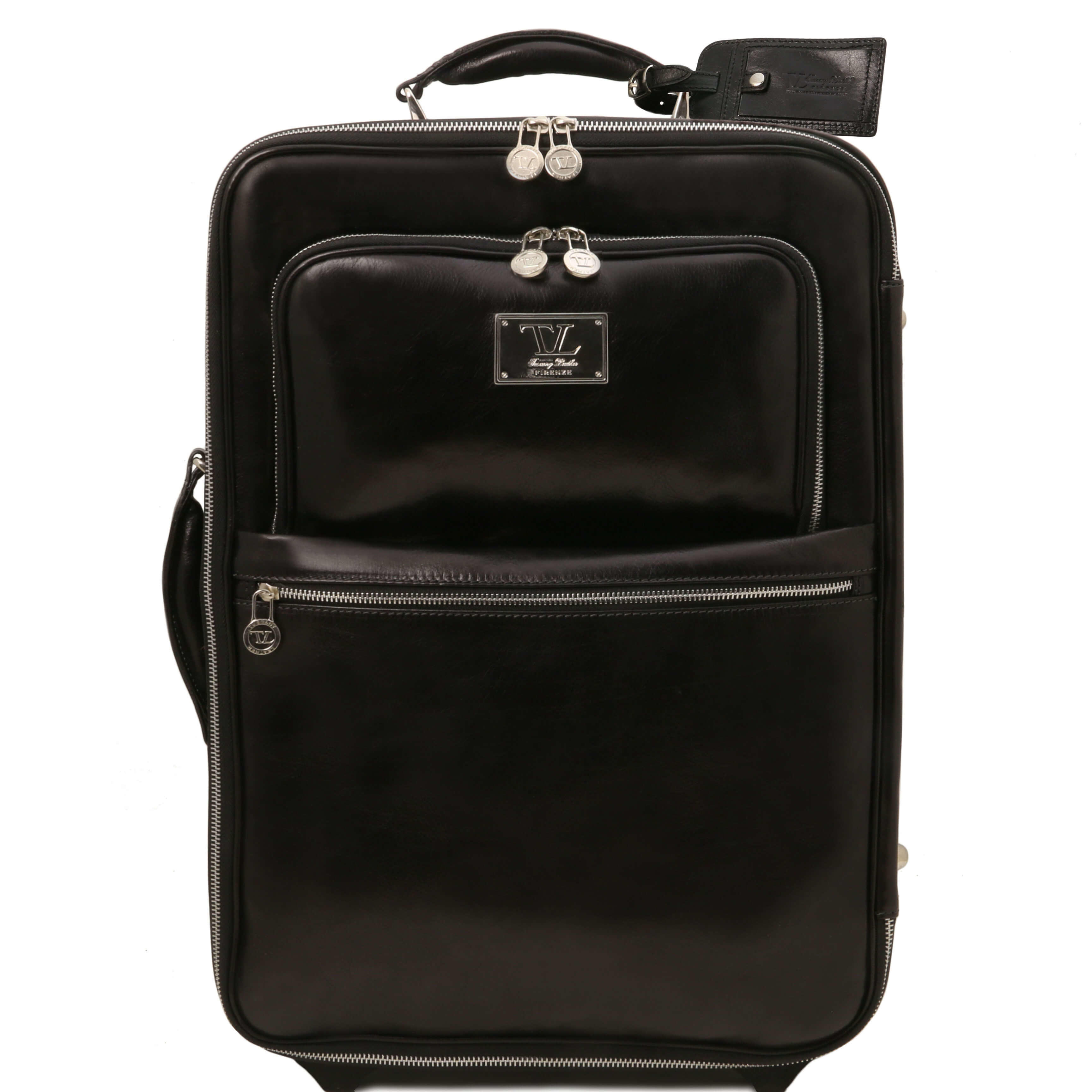 TL141389 Voyager 2 Wheeled Travel-Luggage Bag-Case in Polished C