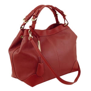 TL141516 AMBROSIA Soft leather bag with shoulder strap by Tuscany Leather