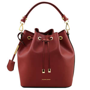 VITTORIA Ruga Leather Secchiello Bag By Tuscany Leather TL141531