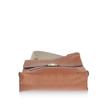 ISAMBARD Clifton Messenger / Cross Body Bag In Soft Tumbled Natural Leather