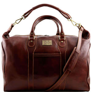 TL1049 Amsterdam Leather Travel - Luggage - Duffel  -Bag - Case