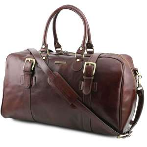 TL141248 Large Leather Voyager Holdall-Travel-Luggage-Duffel Bag