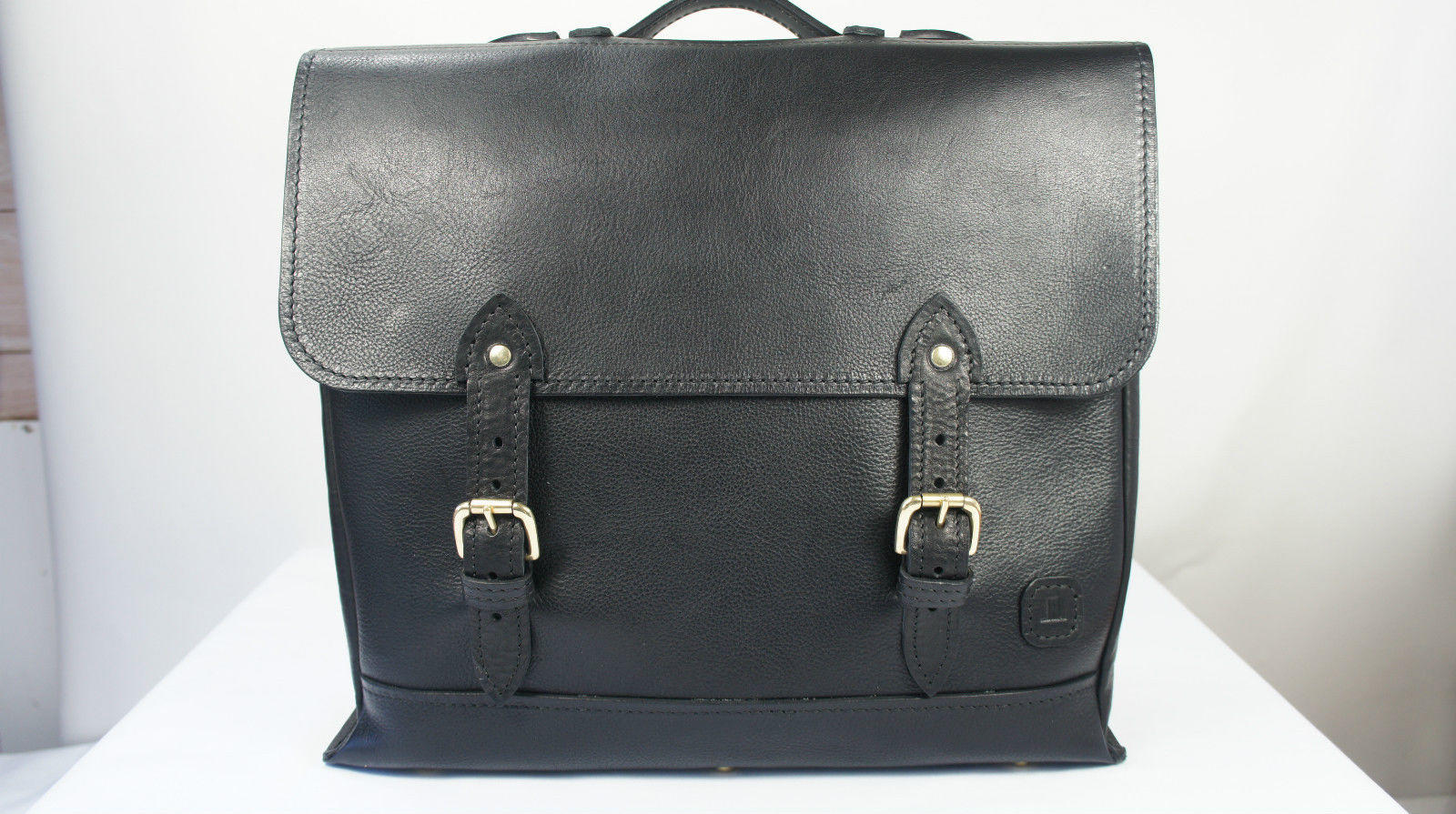 ISAMBARD Dundry Satchel In Soft Natural Veg Tanned Leather