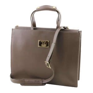 TL141369 Palermo Ladies Saffiano Leather 3 Compartment Briefcase-Holdall-Shoulder Bag & Shoulder Strap