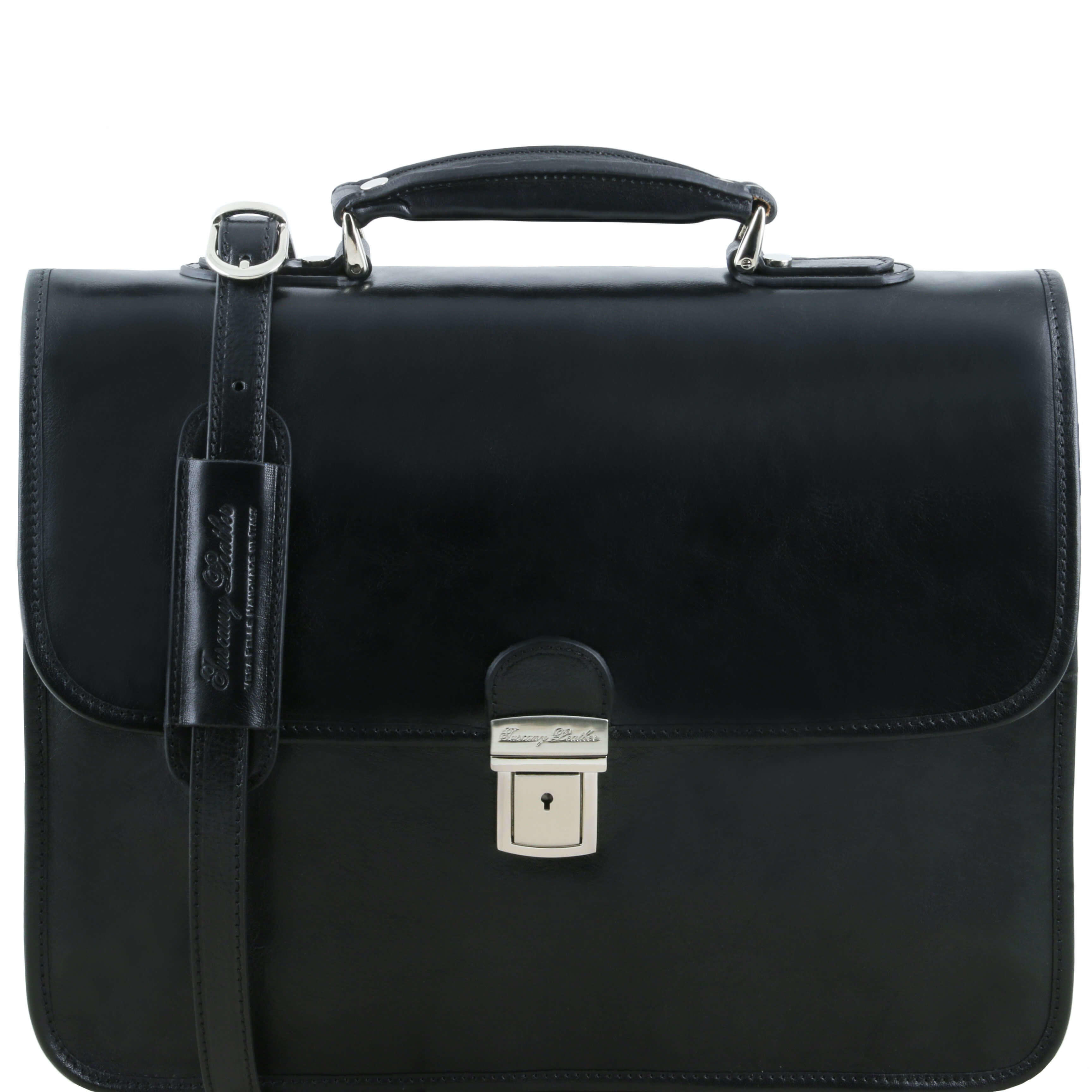 "TL141354 Vernazza Leather 3 Compartment 15""Laptop Briefcase"