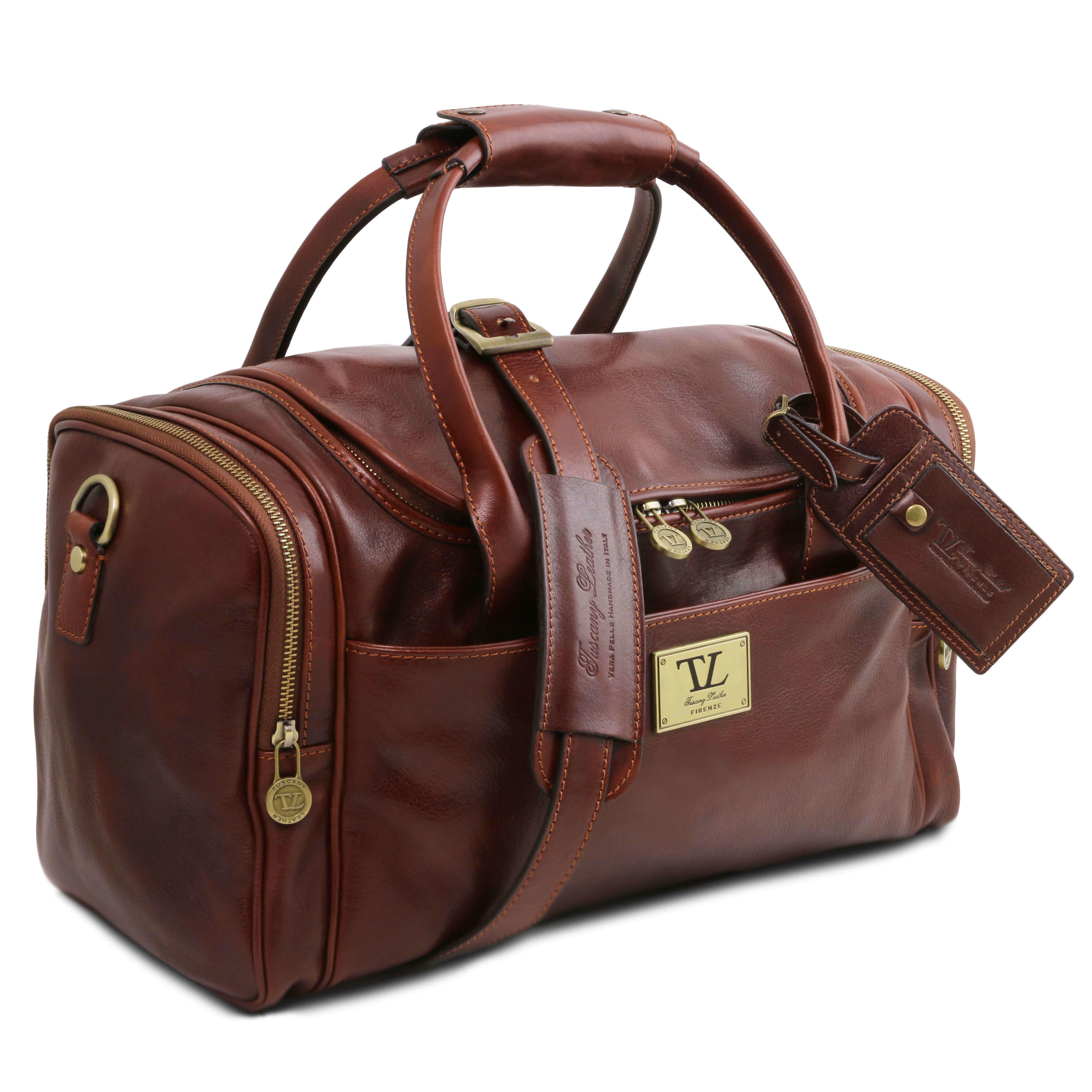 TL141441 Voyager Leather Travel-Weekender-Duffel-Bag-Case&Shoulder  Strap Choice of 3 Colours
