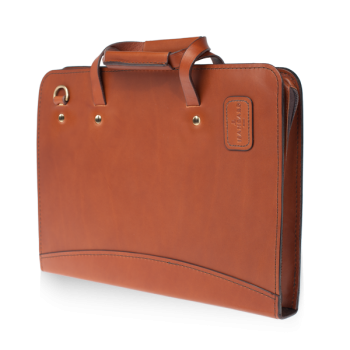 ISAMBARD Clifton Padded iPad-Tablet Folio/Case In Natural Veg Tanned Leather