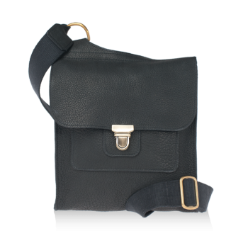ISAMBARD Clifton Messenger / Cross Body Bag In Soft Tumbled Natu