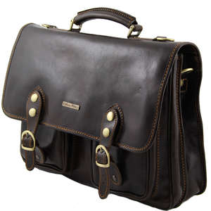 TL100310 Large Leather Modena Satchel-Messenger-Briefcase-Work-B