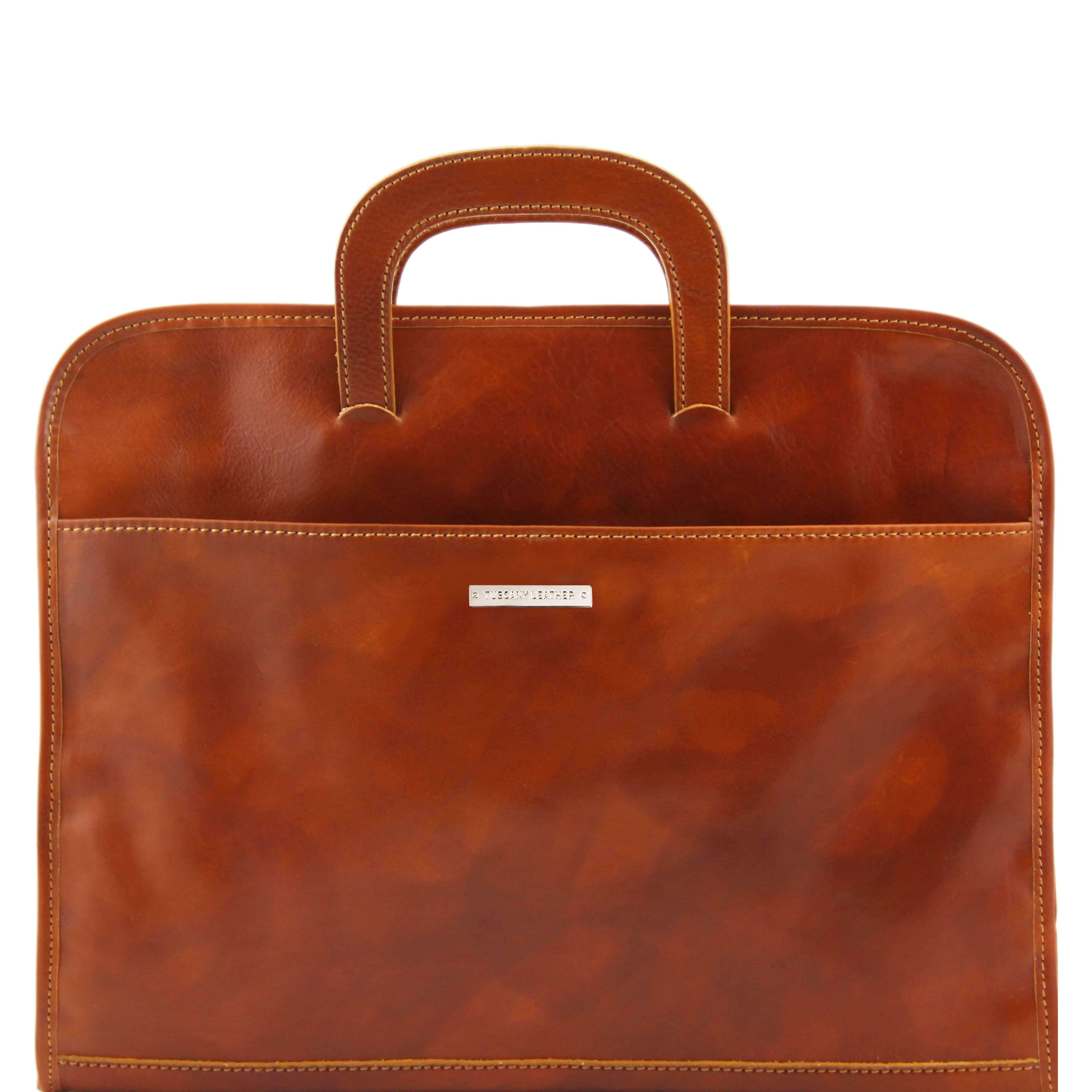 TL141022 Sorrento Leather Lightweight Document-Folio- Briefcase-