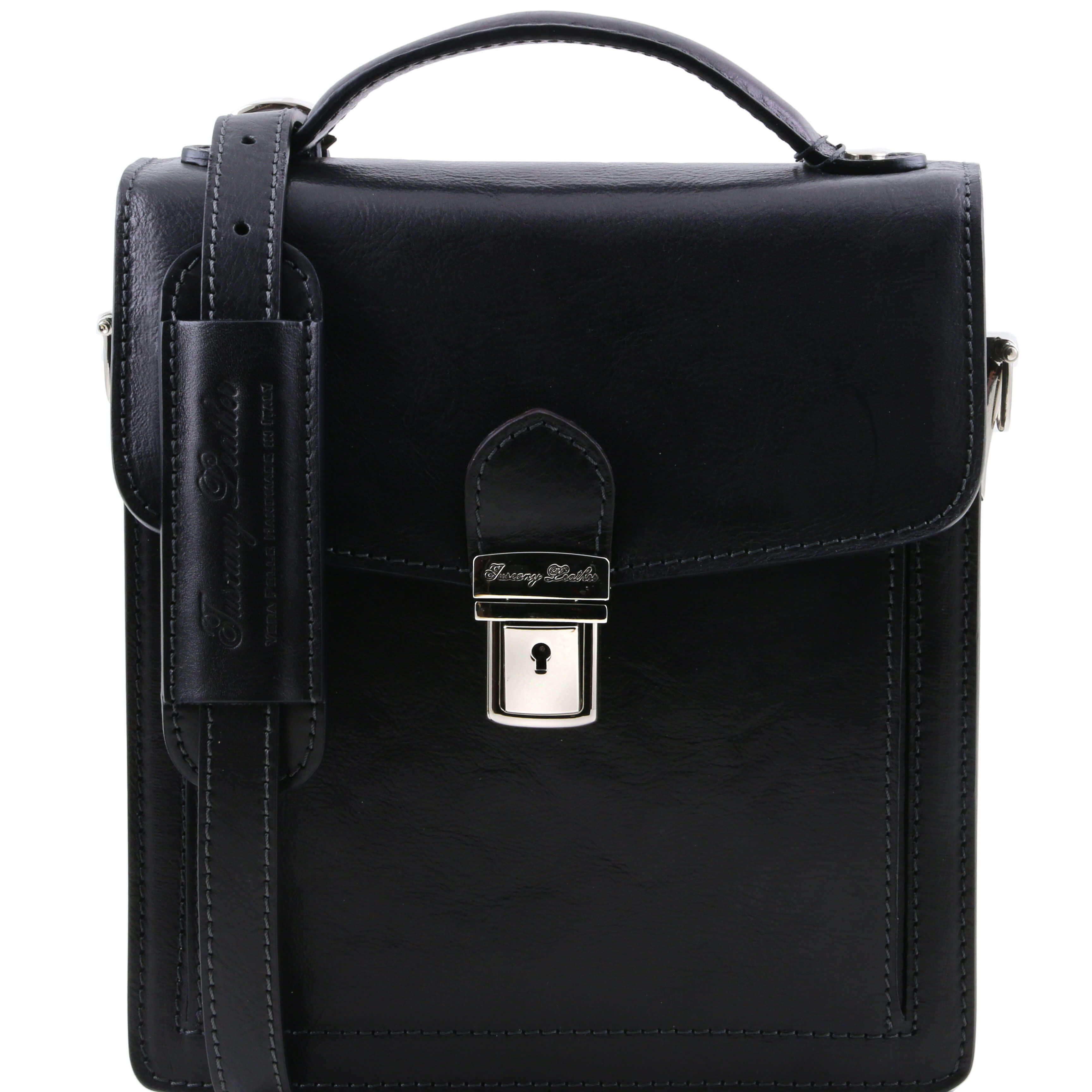 TL141425 New David Mens Shoulder-Saddle-Clutch-Man Bag 4 Colours+Shoulder Strap In Black