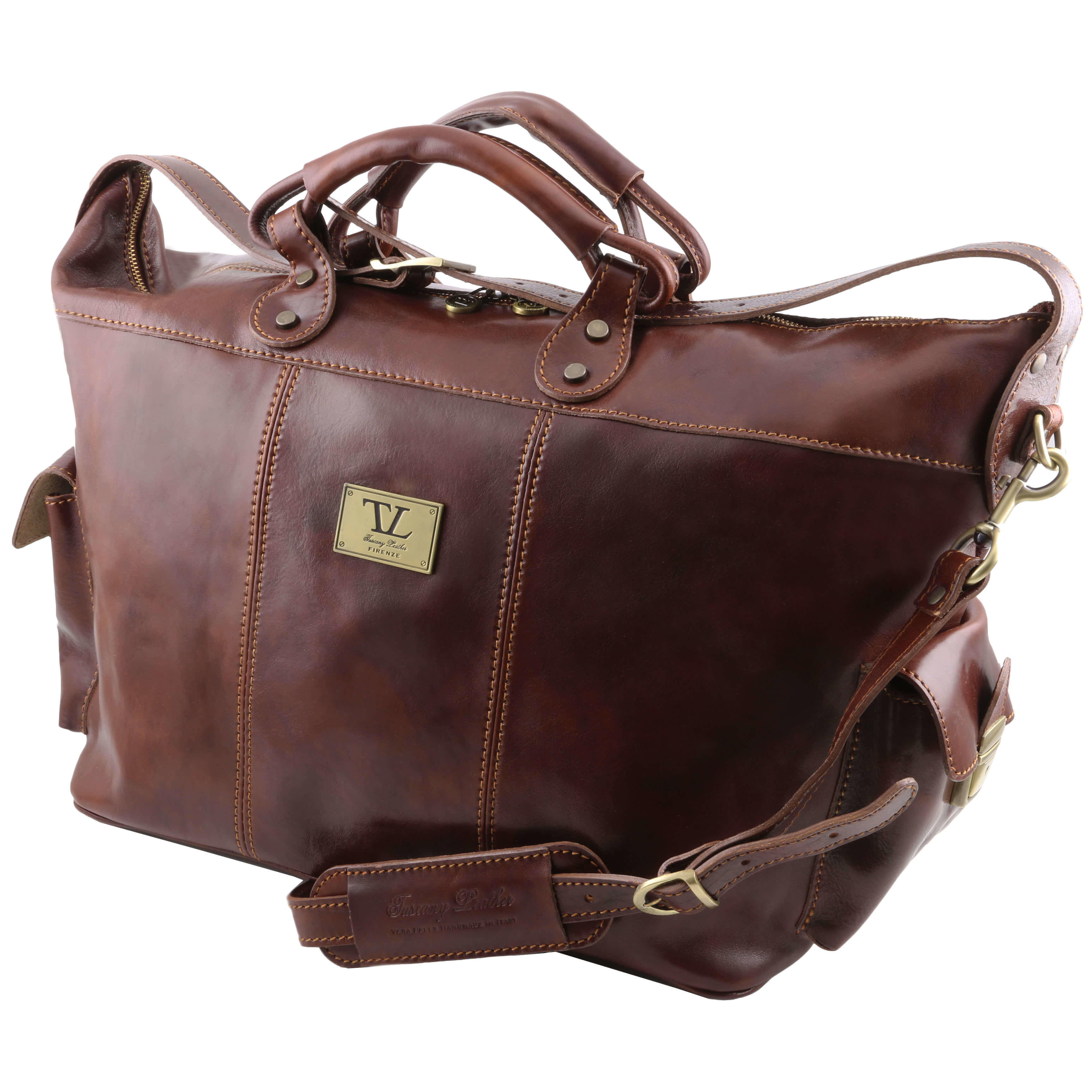 TL140938 Porto Leather Travel - Luggage  - Duffel - Bag - Holdal