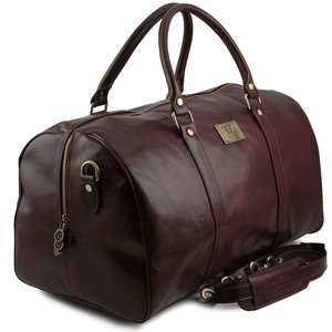 TL141247 Large Leather Voyager Holdall-Travel-Luggage-Duffel Bag